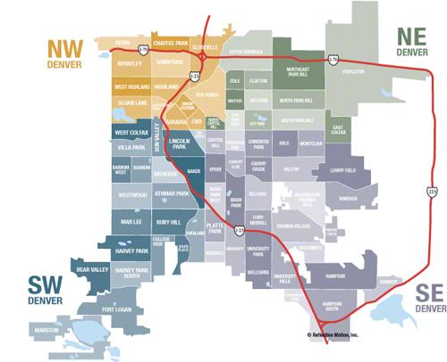 Jefferson County And Denver Colorado Real Estate Information - Denver county map